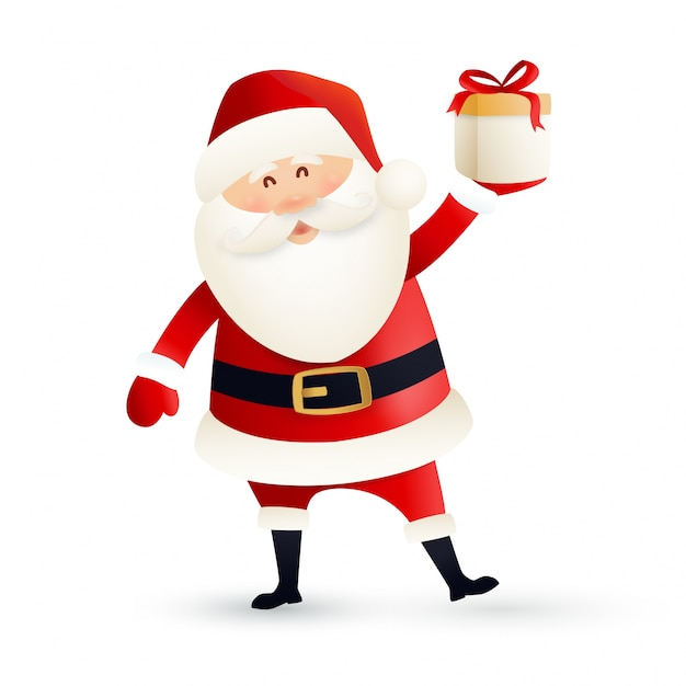 Imagenes De Papa Noel De Navidad.Diseno De Papa Noel Para Saludo De Navidad Descargar