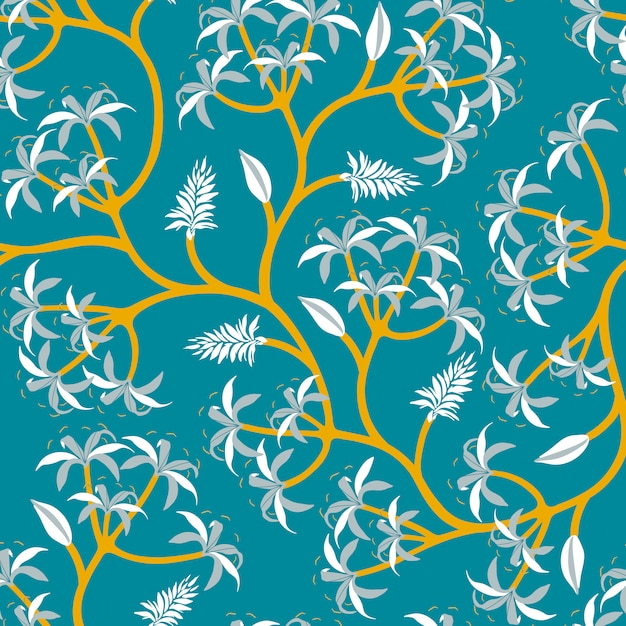 Diseño de papel tapiz de rama de planta vector gratuito