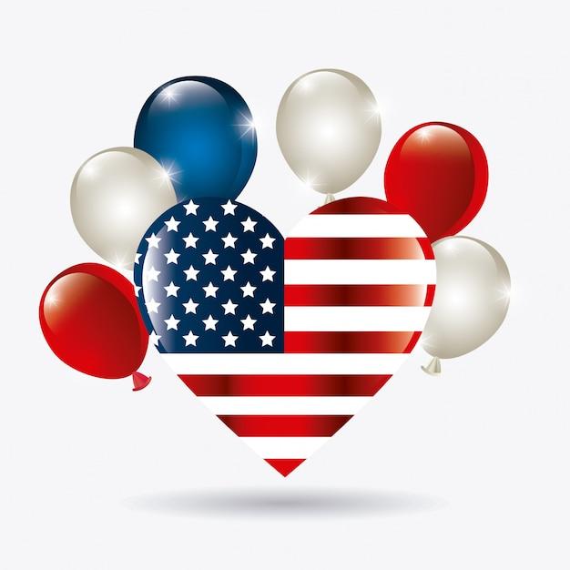 Diseño del patriotismo de estados unidos. vector gratuito