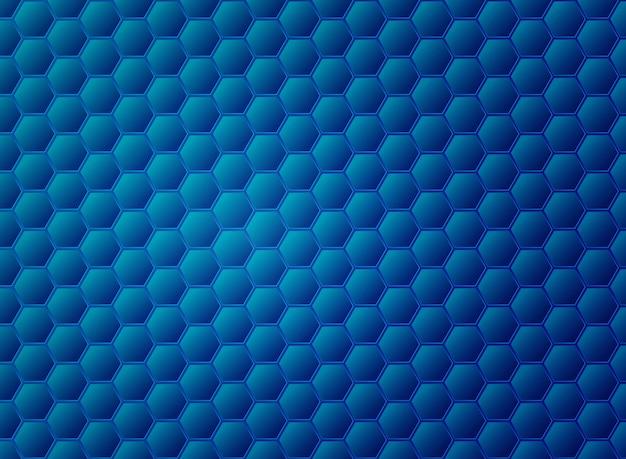 Diseño de patrón de hexágono azul degradado abstracto. Vector Premium