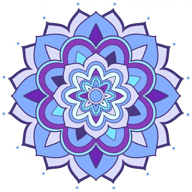Diseño de patrón de mandala sobre fondo blanco. vector gratuito