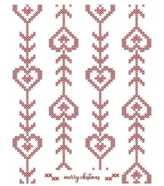 Diseño de patrón de punto navideño Vector Premium