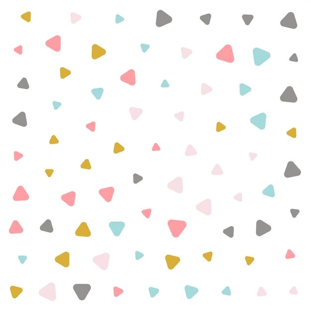 Diseño de patrón de triángulo de colores pastel vector gratuito