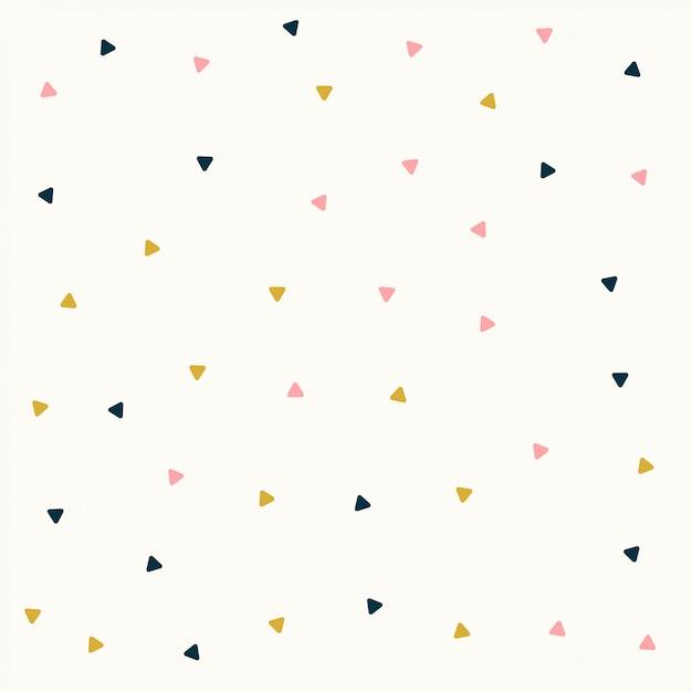 Diseño de patrón de triángulo mínimo en colores pastel vector gratuito