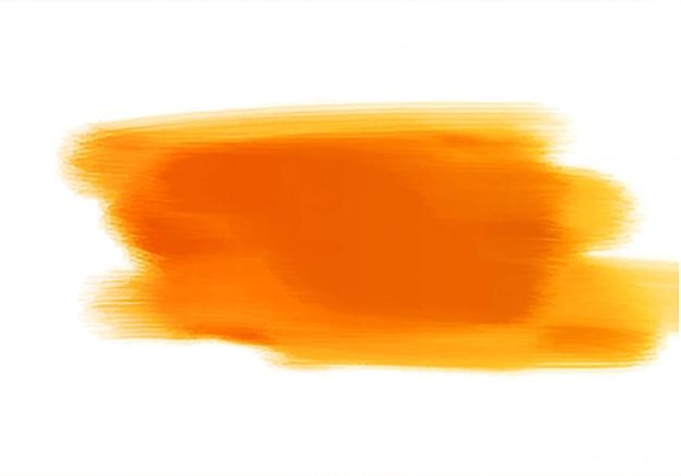 Diseño de pincel de mano acuarela naranja abstracto vector gratuito