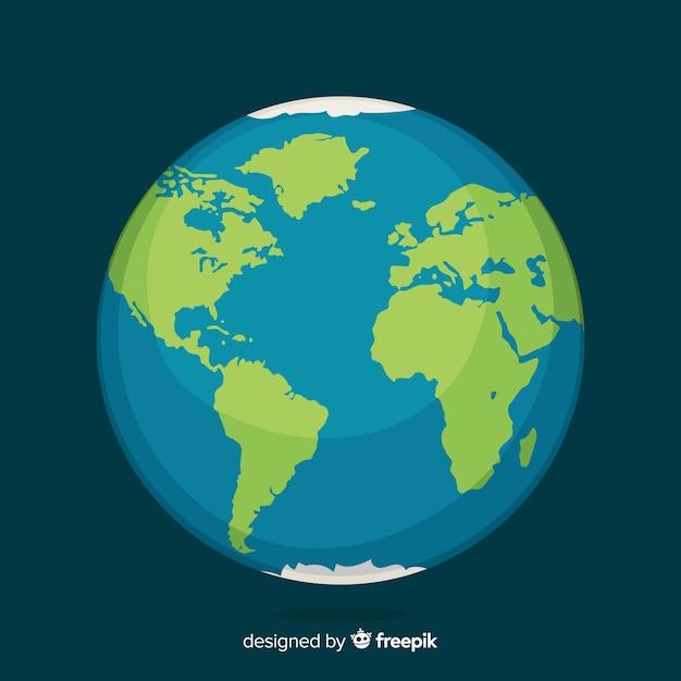 Diseño del planeta tierra vector gratuito