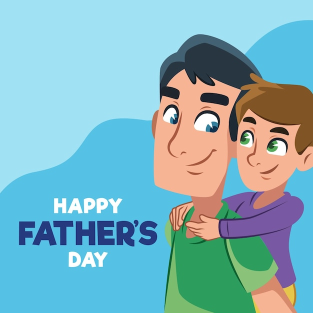 Diseño plano de celebración del día del padre vector gratuito