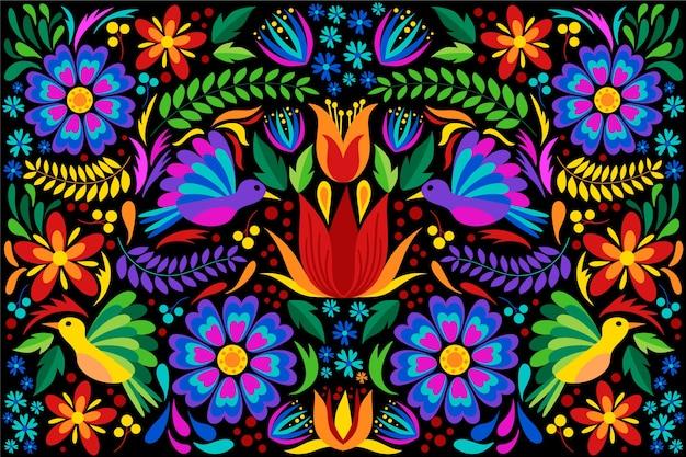 Diseño plano colorido fondo mexicano vector gratuito