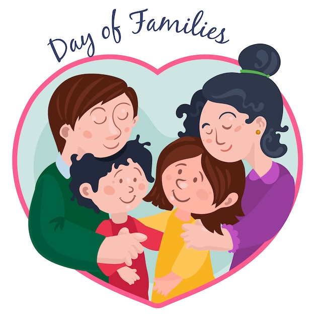 Diseño plano dia internacional de las familias vector gratuito