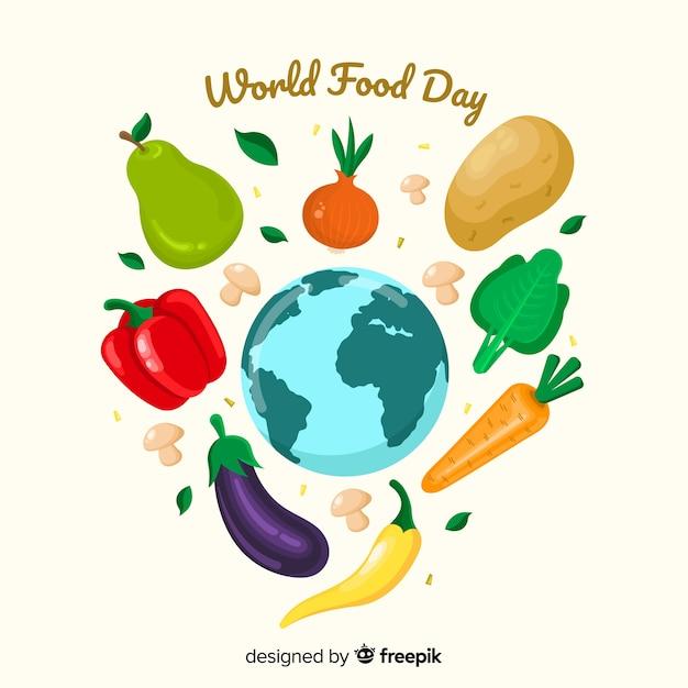 Diseno Plano Del Dia Mundial De La Alimentacion Vector Gratis