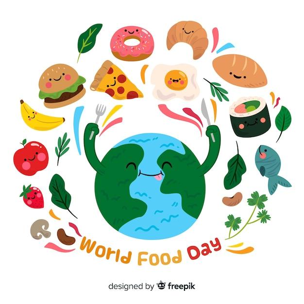 Vector Gratis Diseno Plano Del Dia Mundial De La Alimentacion