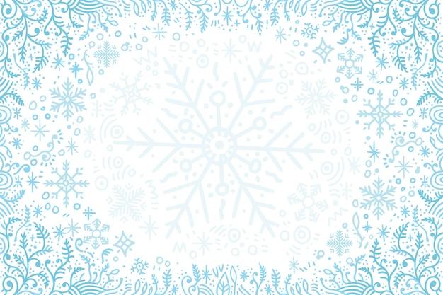 Diseño plano fondo de invierno vector gratuito
