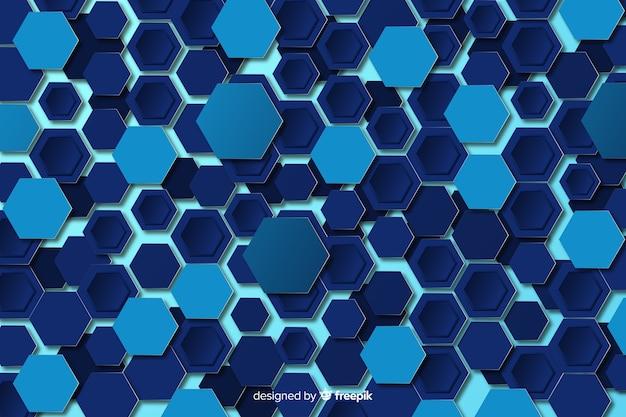 Diseño plano de fondo tecnológico del panal vector gratuito