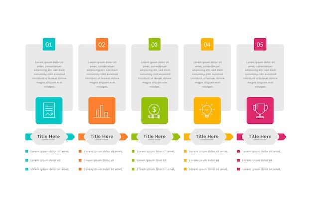 Diseño plano precios infografía vector gratuito