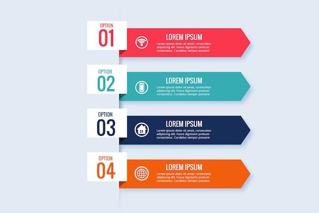 Diseño de plantilla de banner de negocios de infografía vector gratuito
