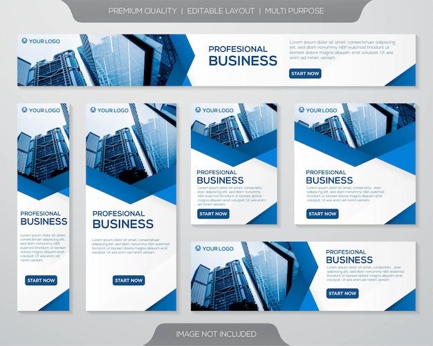 Diseño de plantilla de banner de negocios Vector Premium