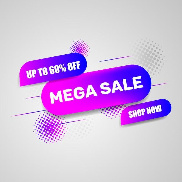 Diseño de plantilla de banner de venta Vector Premium