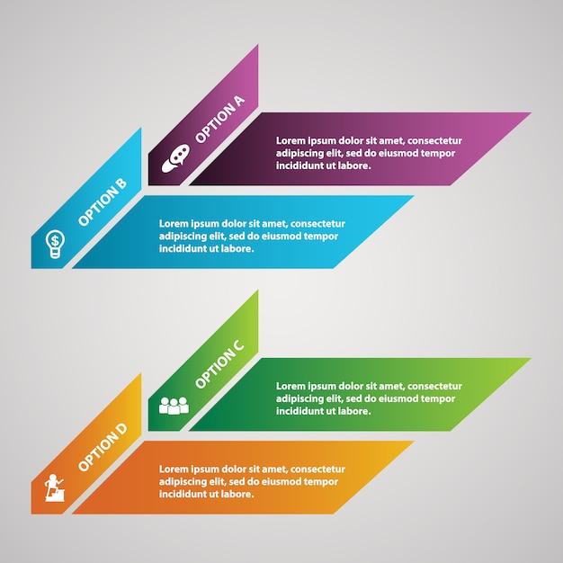 Diseño De Plantilla De Banners De Infografía Para Empresas