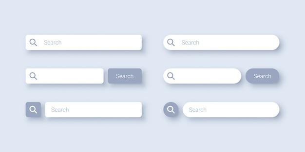Diseño de plantilla de barra de búsqueda Vector Premium