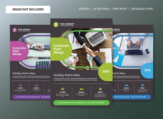 Diseño de plantilla de cartel de folleto de negocio corporativo Vector Premium