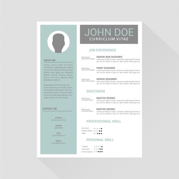 Diseño De Plantilla De Curriculum Vitae