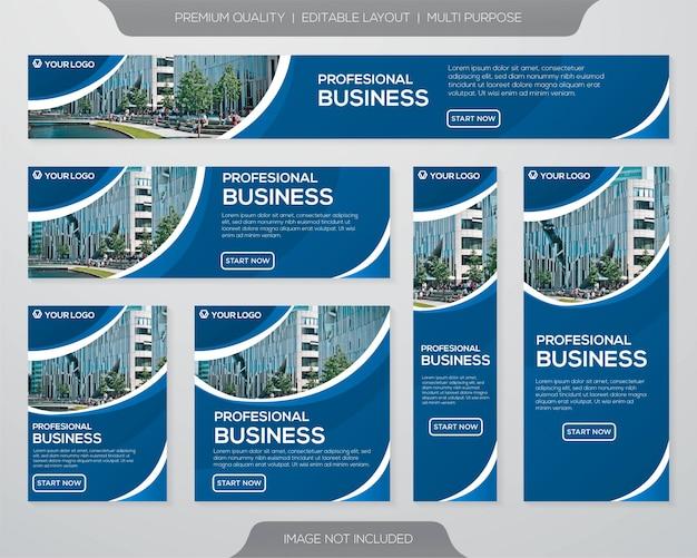 Diseño de plantilla de folleto comercial Vector Premium