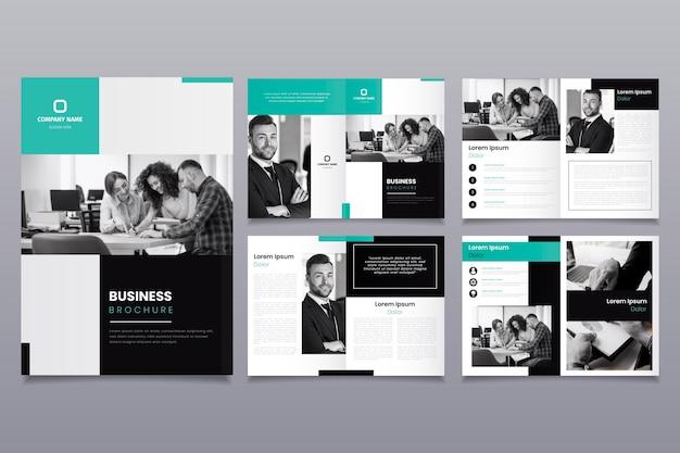 Diseño de plantilla de folleto con personas vector gratuito