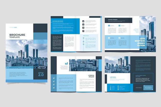 Diseño de plantilla de folleto Vector Premium