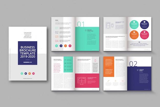 Diseño de plantilla de folleto vector gratuito