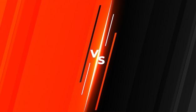 Diseño de plantilla de fondo de batalla versus vs competition vector gratuito