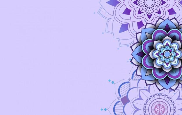 Diseño de plantilla de fondo con patrones de mandala vector gratuito