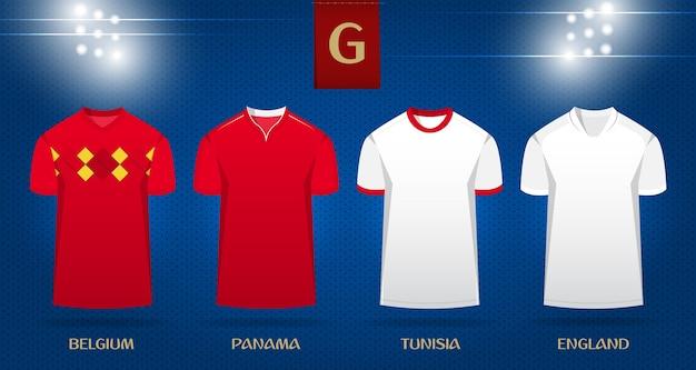 Diseño de plantilla de fútbol kit o camiseta de fútbol para la copa mundial  2018.  9ac6da1b7bb01