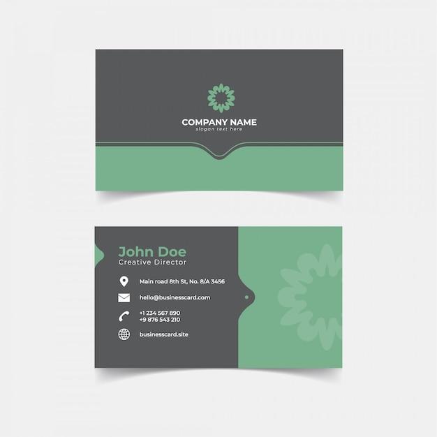 Diseño de plantilla de impresión de tarjeta de visita minimalista Vector Premium