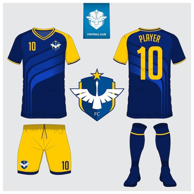 Diseño de plantilla de kit de fútbol jersey o fútbol  bbbd176ca3ecd