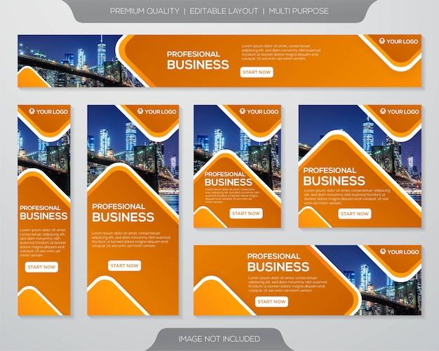 Diseño de plantilla de kit de promoción empresarial Vector Premium
