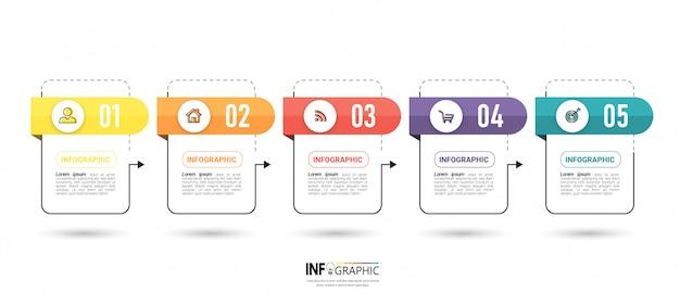 Diseño de plantilla de negocio de infografía. Vector Premium