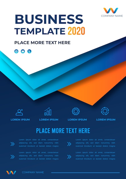 Diseño de plantilla de negocios 2020 vector gratuito
