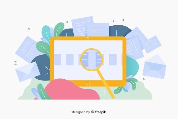 Diseño de plantilla de página de destino para sitios web comerciales vector gratuito