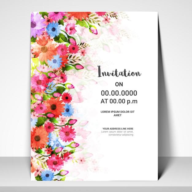 Diseño De La Plantilla De La Tarjeta De Invitación Con