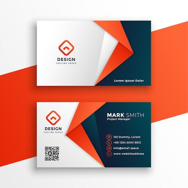 Diseño de plantilla de tarjeta profesional vector gratuito
