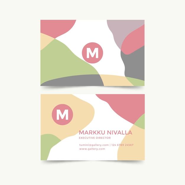 Diseño de plantilla de tarjeta de visita abstracta vector gratuito