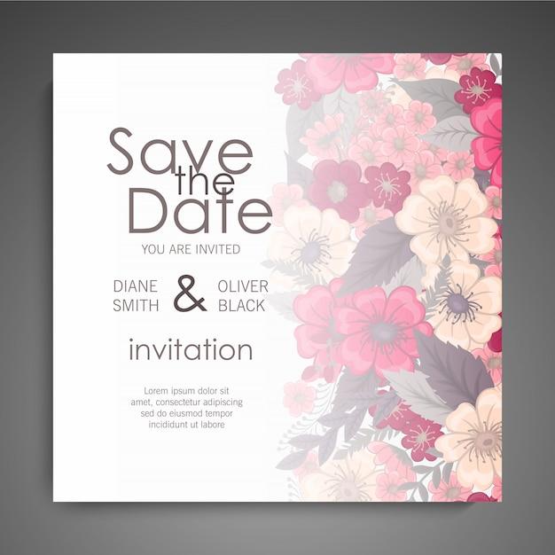 Diseño de plantilla de tarjeta de visita floral vector gratuito