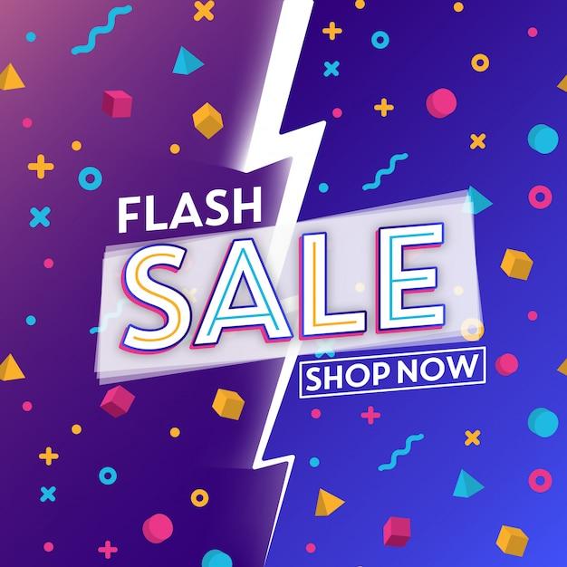 Diseño de plantilla de venta flash Vector Premium