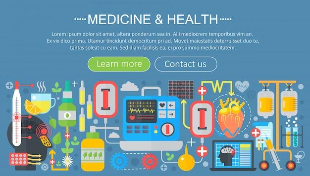 Diseño de plantillas de medicina y salud. Vector Premium