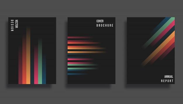 Diseño de portada abstracta. Vector Premium