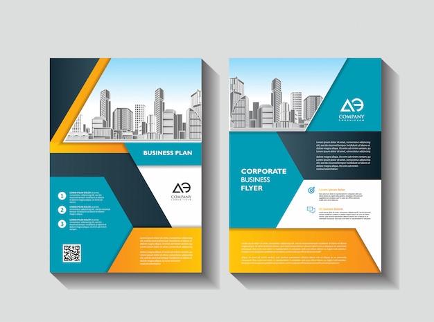 Diseño portada libro folleto diseño volante cartel fondo informe anual Vector Premium