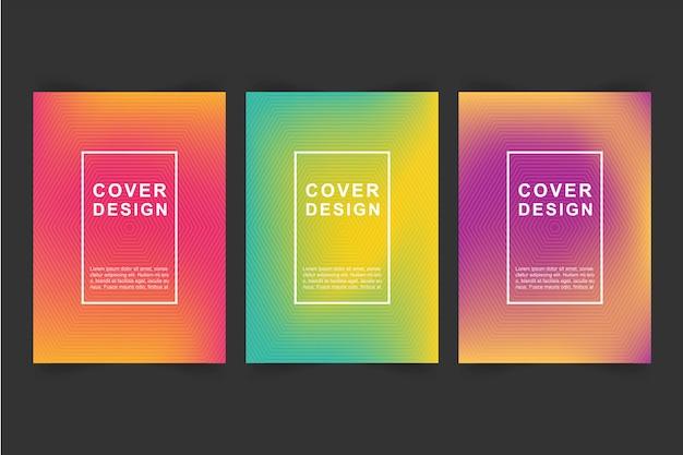 Diseño de portada Vector Premium