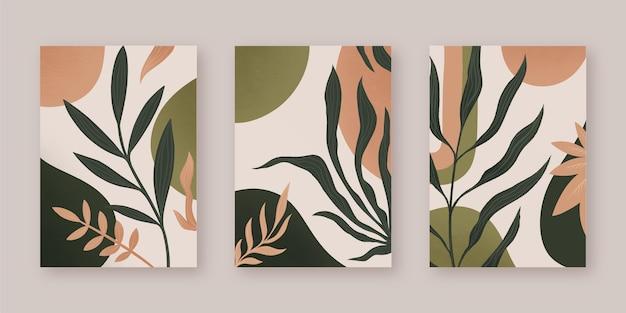 Diseño de portadas abstractas vector gratuito