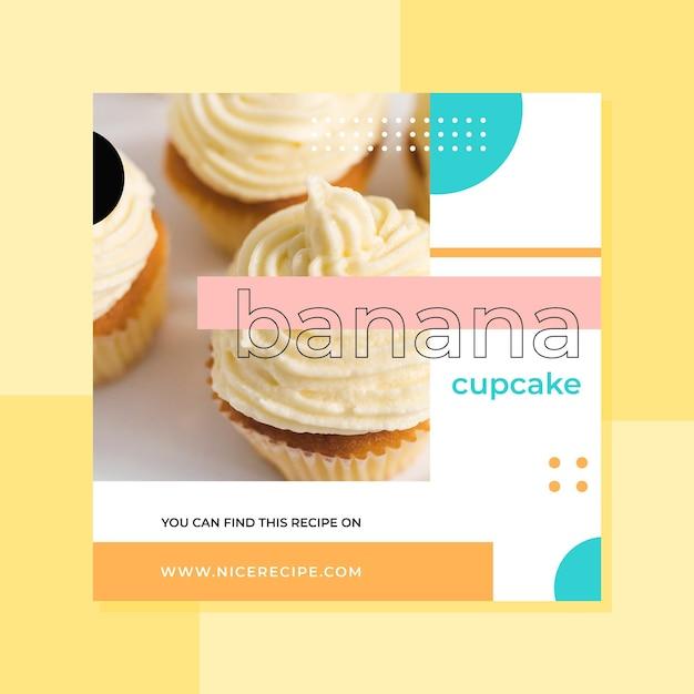 Diseño de post de instagram de alimentos vector gratuito