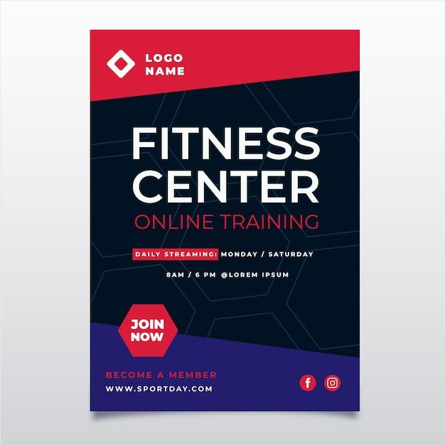 Diseño de póster de gimnasio vector gratuito
